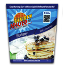 Golden Malted Blueberry Waffles